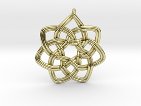 7 pointed woven pendant in 18K Gold Plated