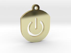 On Button Circular Frame Pendant Insert in 18K Gold Plated