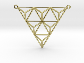 Tetrahedron Pendant 2 in 18K Gold Plated