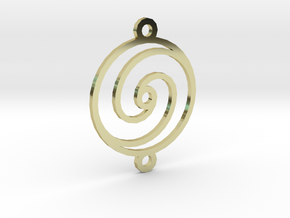 Spiral Pendant in 18K Gold Plated