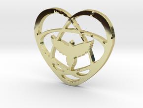 Atom Star Heart Bird in 18K Gold Plated