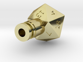 D20 Drip Tip in 18K Gold Plated