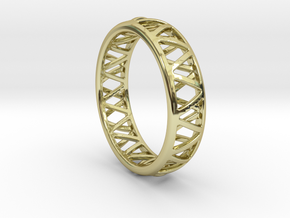 Truss Ring 1 Size 10 in 18K Gold Plated