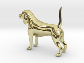Beagle in 18K Gold Plated