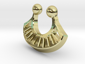 Tribal Fan Nose RIng in 18K Gold Plated