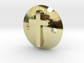 Cross bracelet in 18K Gold Plated