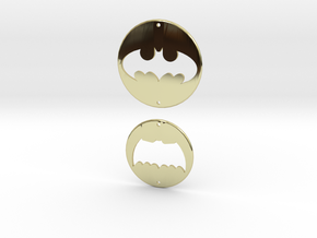 Batman Logo Charms 2 in 18K Gold Plated