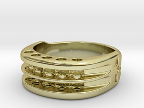US12 Ring XI: Tritium in 18K Gold Plated