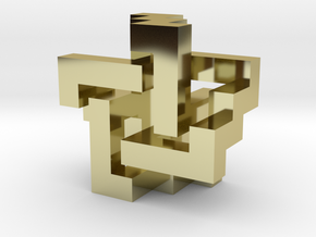 Blocky Pendant in 18K Gold Plated