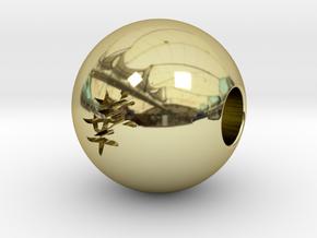 16mm Hana(Flower) Sphere in 18K Gold Plated