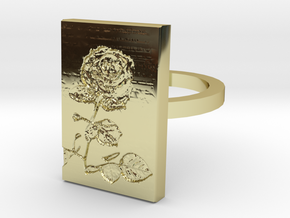 Rose Ring 3 in 18K Gold Plated