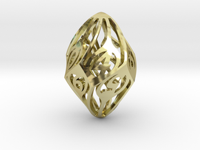 Twisty Spindle d10 in 18K Gold Plated
