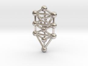 Sephirot (Tree of Life) Pendant in Platinum