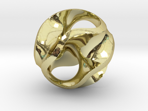 Gyroid Pendant in 18K Gold Plated