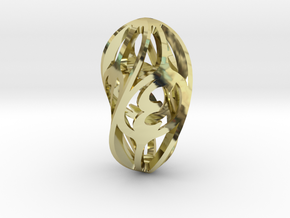 Twisty Spindle d4 in 18K Gold Plated