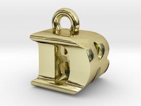 3D Monogram Pendant - DRF1 in 18K Gold Plated