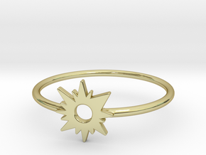 Sun Midi Ring 16mm inner diameter by CURIO in 18K Gold Plated
