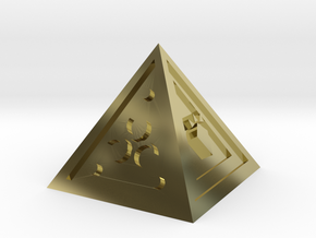 Legend of Zelda Pyramid Display Piece in 18K Gold Plated