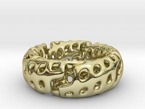 Zig-Zag Torus Knot (17.7mm diameter, ~US size 7.5) in 18K Gold Plated