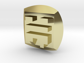 Bionicle - Nuva Symbol - Air in 18K Gold Plated