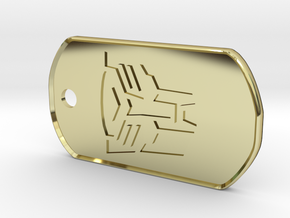 Autobot Dog Tag (Rimmed) in 18K Gold Plated