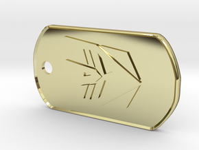 Decepticon Dog Tag (Rimmed) in 18K Gold Plated
