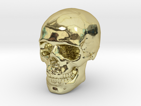 8mm 0.3in Human Skull for earring in 18K Gold Plated
