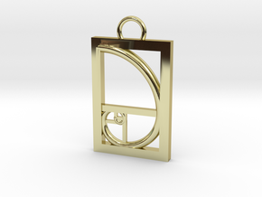 Golden Ratio Pendant in 18K Gold Plated