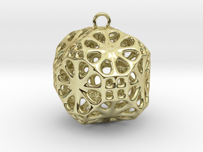Christmas Bauble No.3 in 18K Gold Plated
