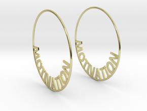 Custom Hoop Earrings - Motivation 60mm in 18K Gold Plated