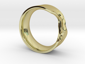 The Crumple Ring - 21mm Dia in 18K Gold Plated