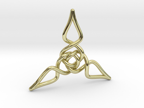 Triquetra Pendant 1 in 18K Gold Plated