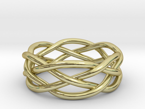 Dreamweaver Ring (Size 12) in 18K Gold Plated