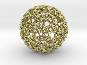 Weave Mesho Sphere in 18K Gold Plated