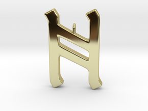 Rune Pendant - Hægl in 18K Gold Plated
