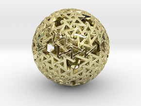 Trapezoidal Sphere in 18K Gold Plated
