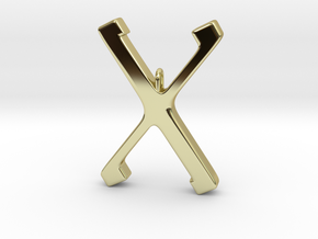 Rune Pendent - Gyfu in 18K Gold Plated