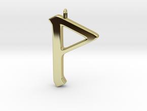 Rune Pendant - Wynn in 18K Gold Plated