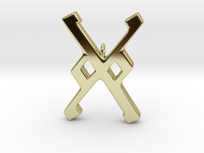Rune Pendant - Gār in 18K Gold Plated