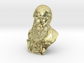 "Charles Darwin 3"" Bust in 18K Gold Plated"