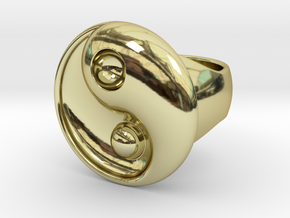 Yin Yang - 6.1 - Ring For Man - 16.5 Mm in 18K Gold Plated