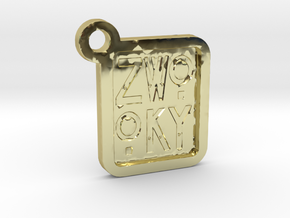 ZWOOKY Keyring LOGO 12 3cm 3mm negative in 18K Gold Plated