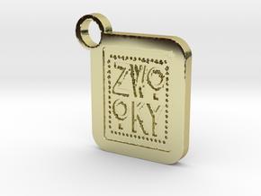 ZWOOKY Keyring LOGO 34 5cm 6mm in 18K Gold Plated