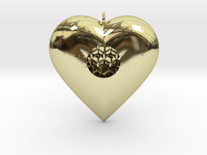 Diamond Heart Pendant in 18K Gold Plated
