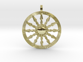 SUN Designer Symbolic Jewelry Pendant in 18K Gold Plated