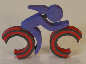Athletes - Bike Woman in Full Color Sandstone