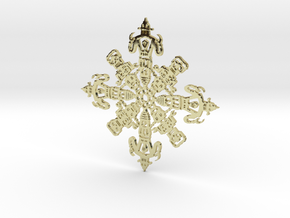 Robot Snowflake in 18K Gold Plated