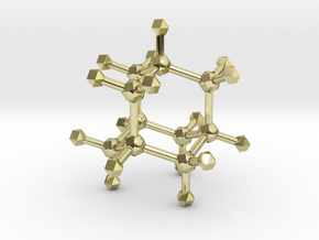 Adamantane in 18K Gold Plated