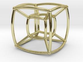 Reuleaux Hypercube in 18K Gold Plated