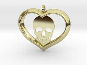Skull Heart (2) in 18K Gold Plated